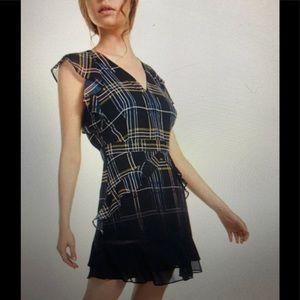 Ruffled plaid mini dress